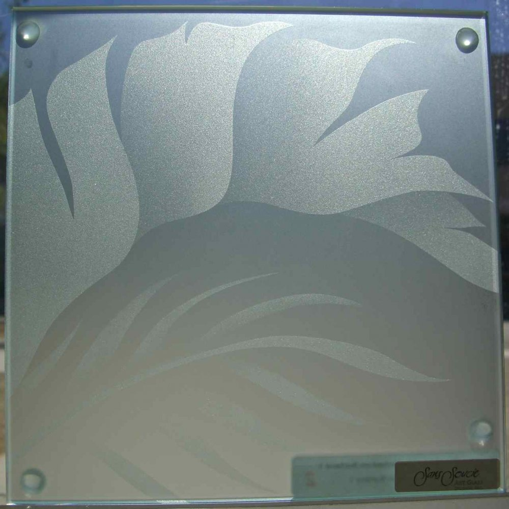 Glass Door Inserts Sample Tropical Leaves 4 Sans Soucie