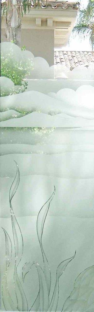 Glass Door Inserts Serene Reeds 2D Sans Soucie