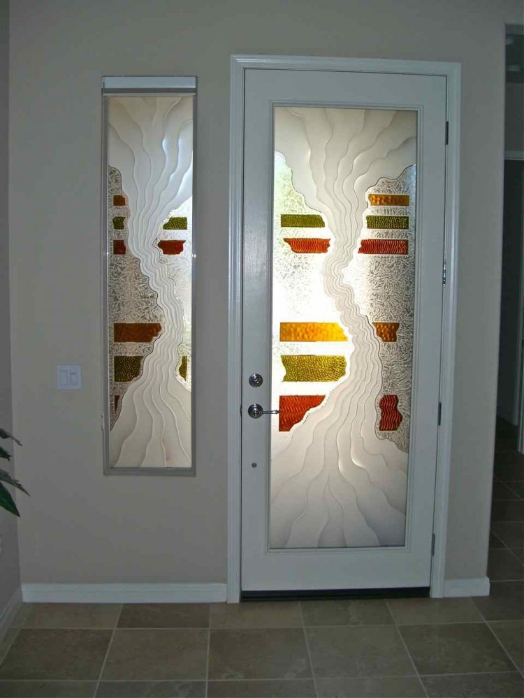 Triptic Entry Sidelite Glass Door Inserts Sans Soucie