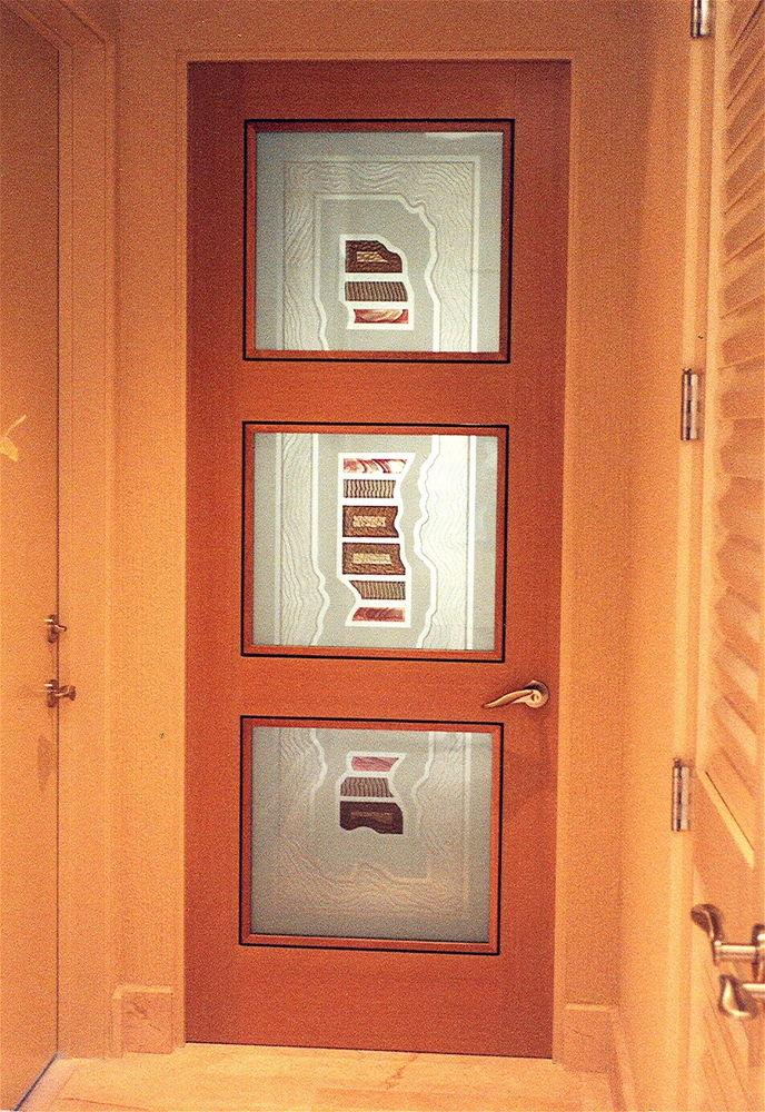 triptic segments glass door inserts sans soucie