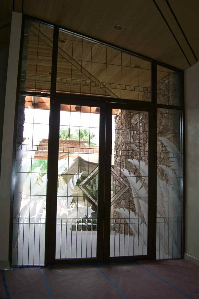 Glass Door Inserts Tropical Grand Entry Sans Soucie