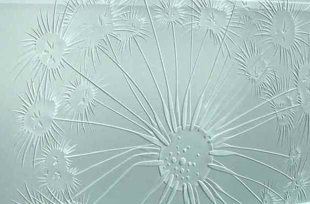 Partitions Enclosed with Etched and Carved Glass Oceanic by Sans Soucie