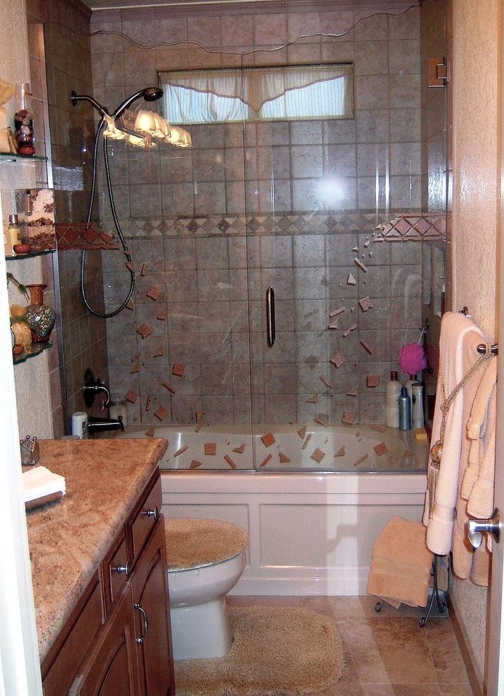 frameless glass shower doors etched glass modern decor geometric patterns fallaway sans soucie