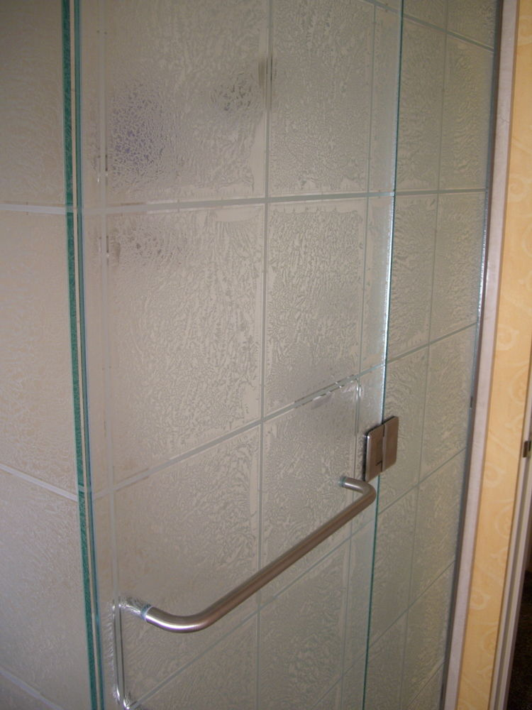 glass shower etched glass modern design geometric pattern gluechip tiles ll sans soucie