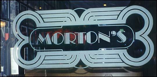 Glass Sign Morton's Sans Soucie