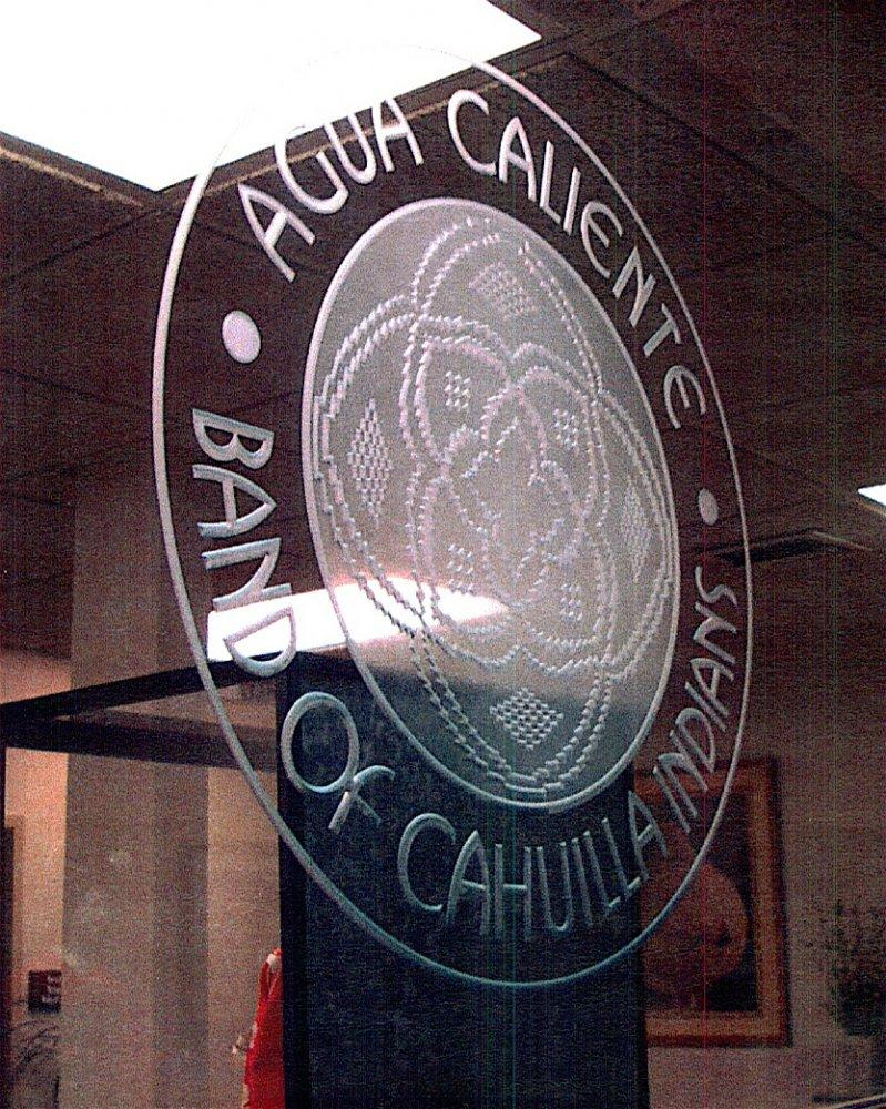 Glass Signs Agua Caliente Sans Soucie
