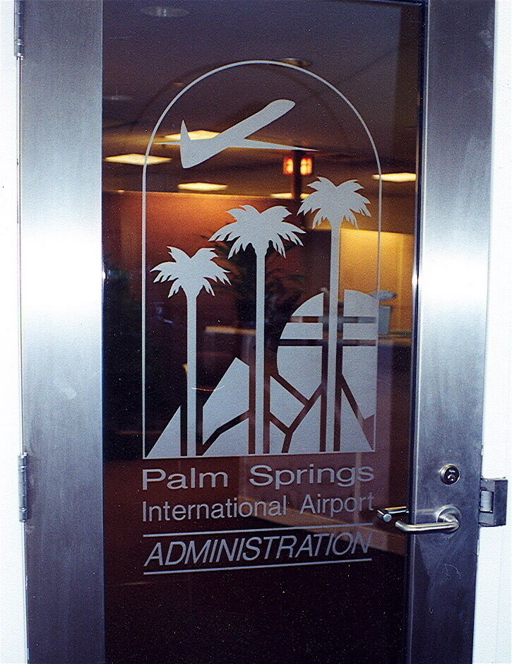 Glass Signs Palm Springs Airport Sans Soucie