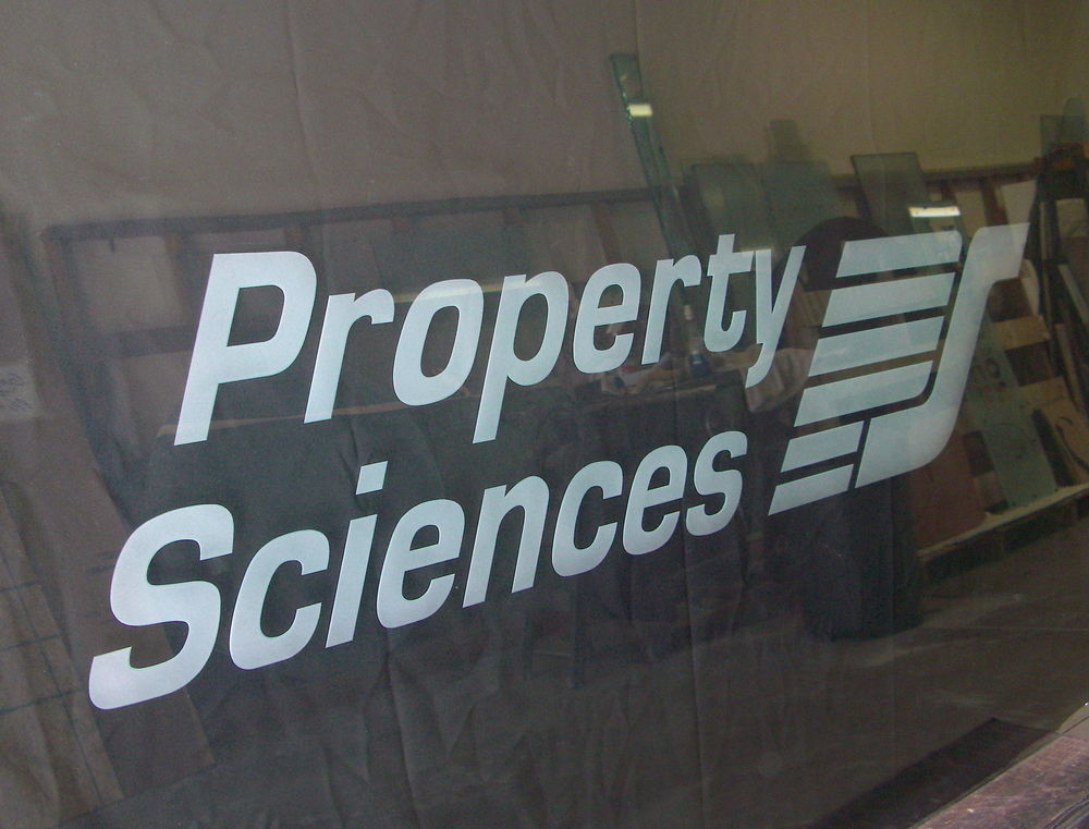 Glass Signs Property Sciences Sans Soucie
