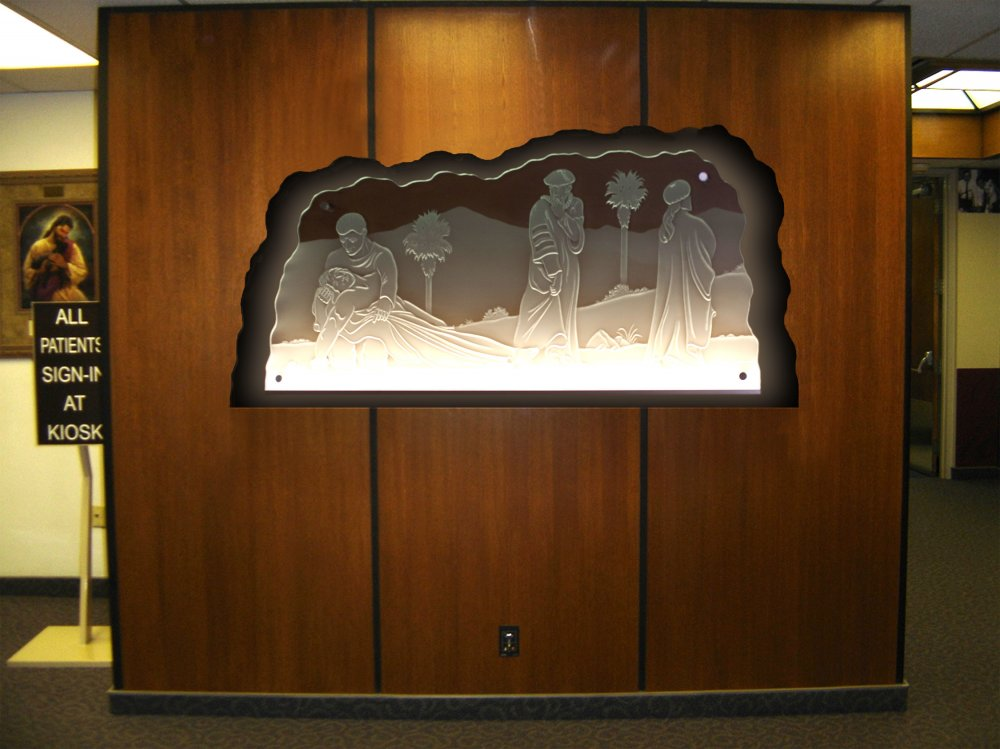 Decorative Signs with Carved Glass good samaritans by Sans Soucie