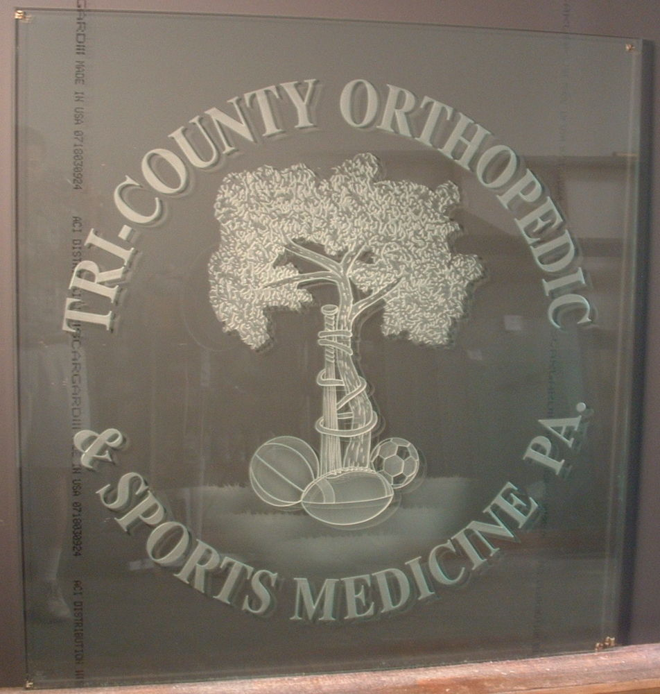 Glass Signs Tri-County Orthopedic Sans Soucie
