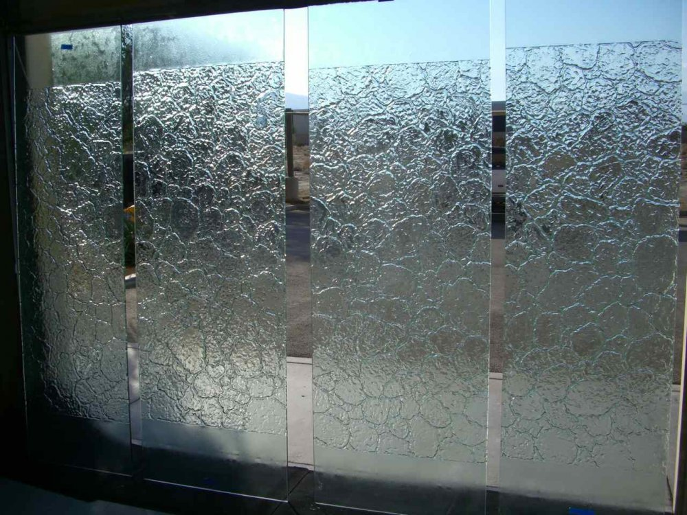 Entry Frameless Doors with Glass Stone by Sans Soucie