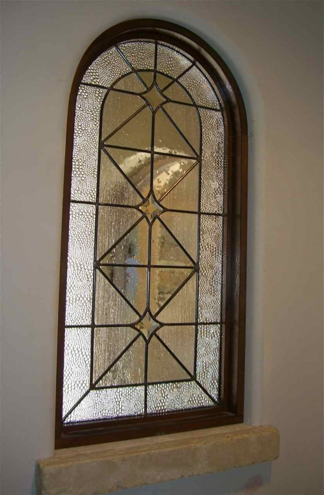 glass window beveled glass modern design linear patterns acute angles bubbled border sans soucie