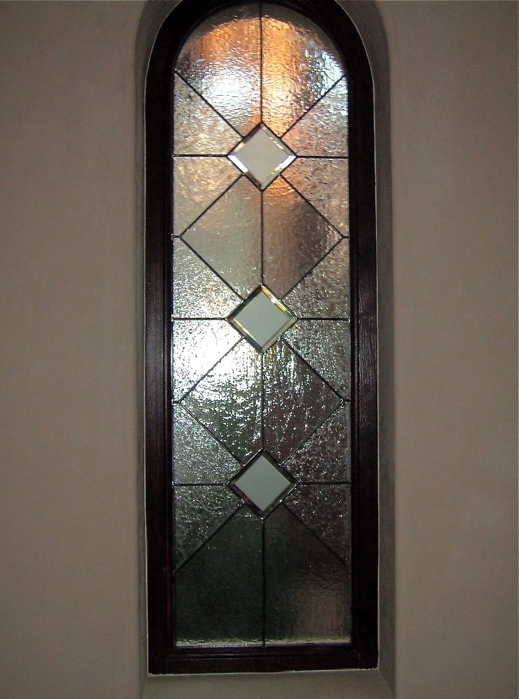 Acute Angles Glass Window Stained Glass Modern Style