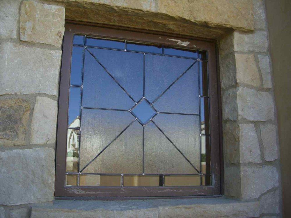 glass window leaded glass modern decor geometric patterns acute angles square sans soucie
