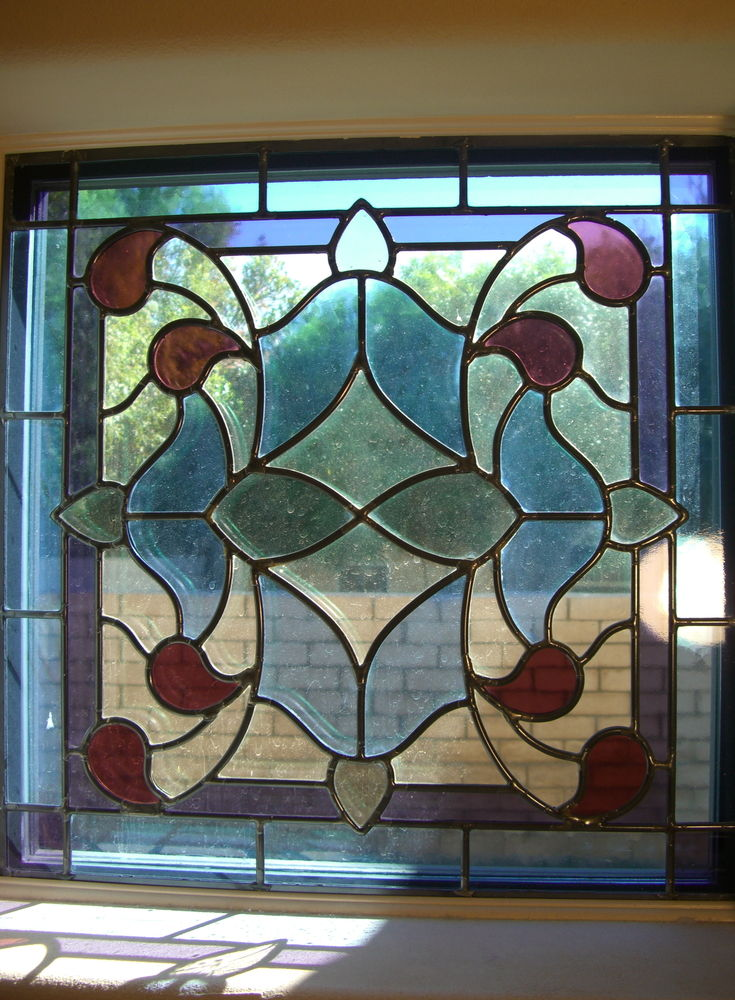 glass window Stained glass French decor ornate flourishes alhambra sans soucie