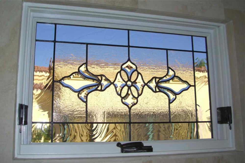 Gl Window Stained Traditional Decor Ornate Patterns Bevel Cer Sans Soucie