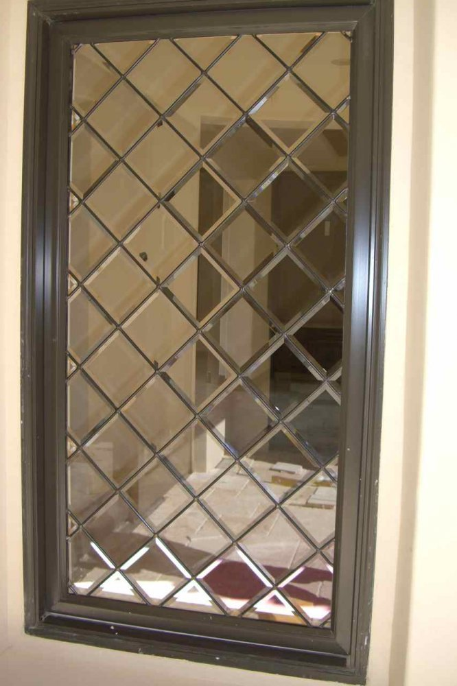glass window leaded glass traditional style diamond pattern beveled lattice sans soucie