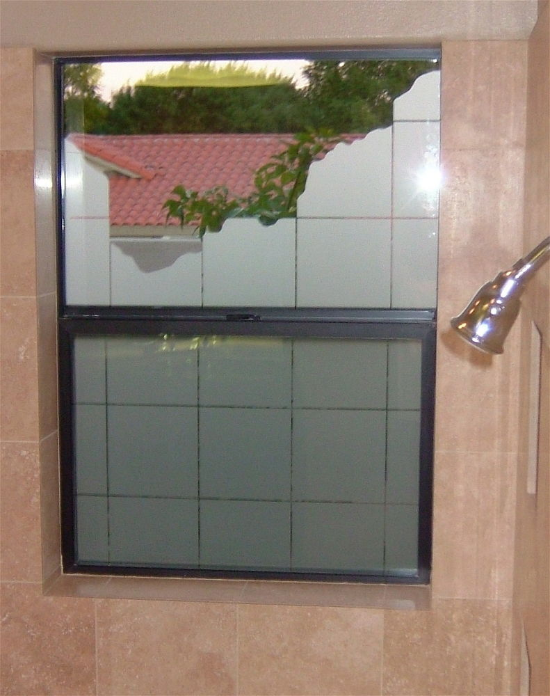glass window etched glass Contemporary style cubes patterns break out sans soucie