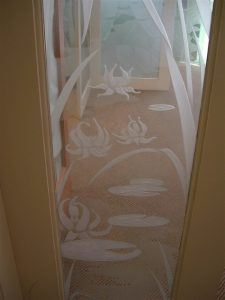 Lily Pds Amp Lts Ll Glass Window Etched Glass Eng Ctry Decor