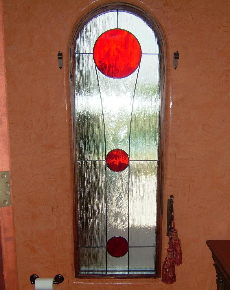 glass window beveled glass modern style circular shapes crimson annulus sans soucie