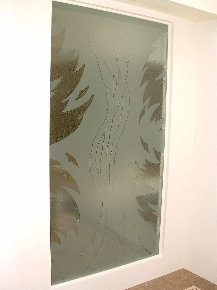 glass window etched glass eclectic style wavy lines dreamscape ll sans soucie