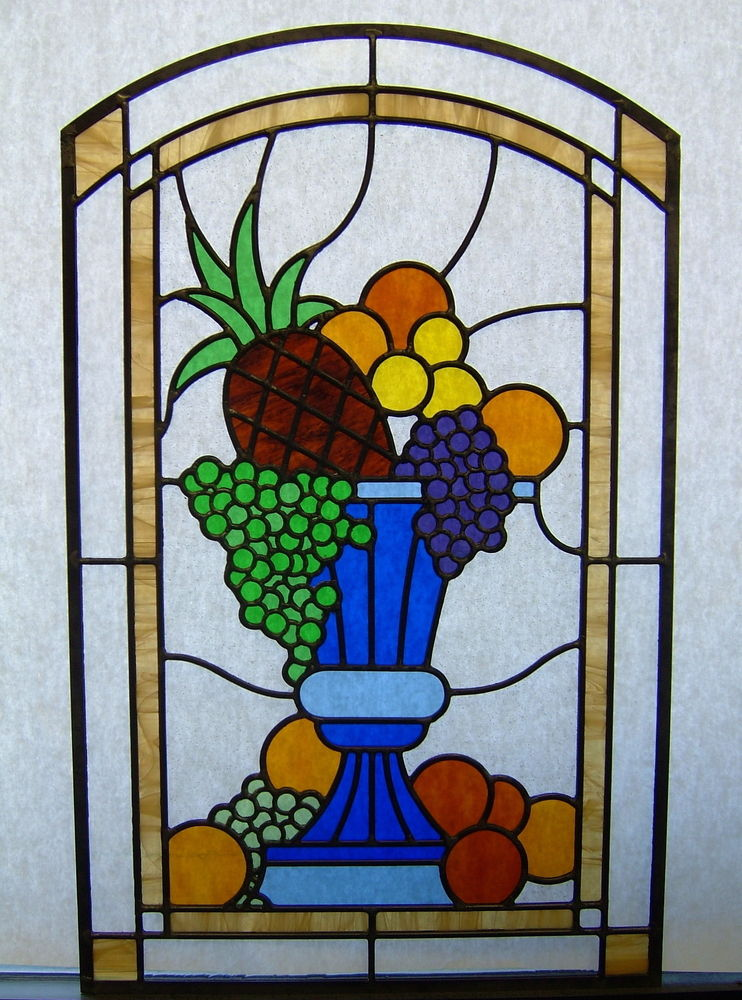 Stained Glass Window Patterns : Fruit glass window stained tuscan design