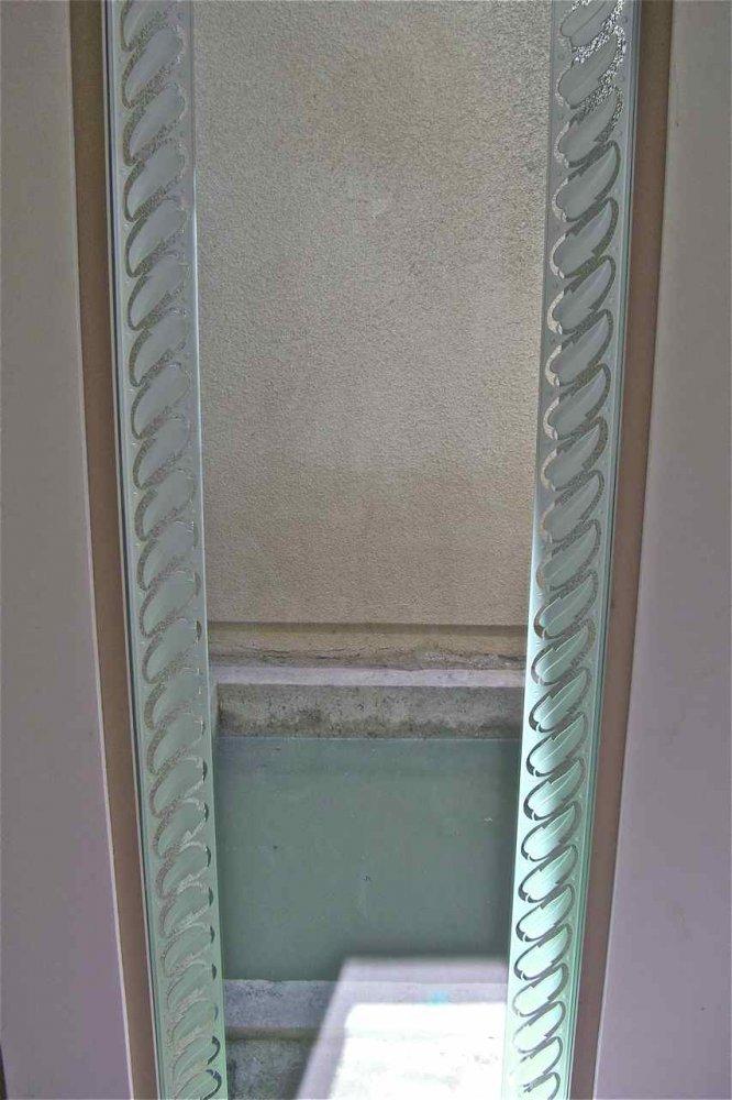 glass window etched glass Borders style leafy foliage leaf border sans soucie