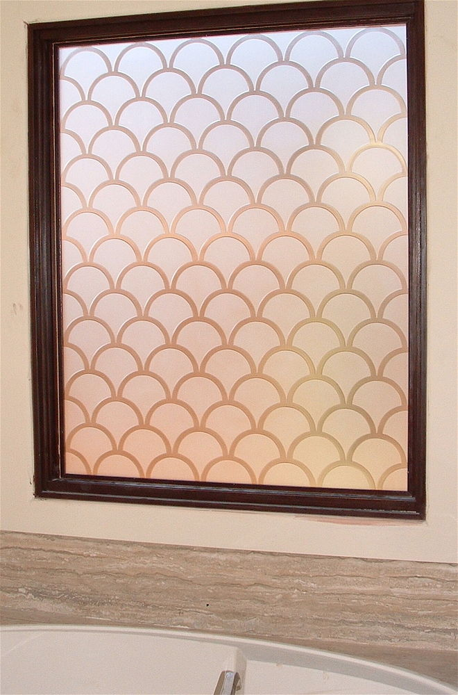 glass window etched glass Moroccan Style geometric patterns spanish tiles sans soucie