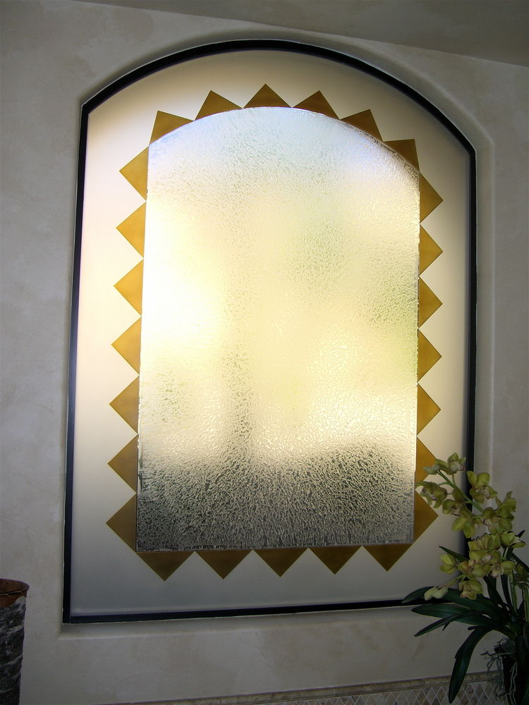 glass window etched glass traditional decor geometric patterns triangle border sans soucie
