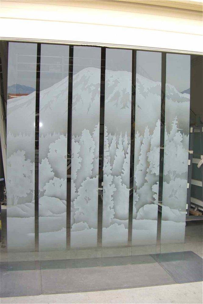 glass window etched glass western style mountain landscape silverdale ridge sans soucie