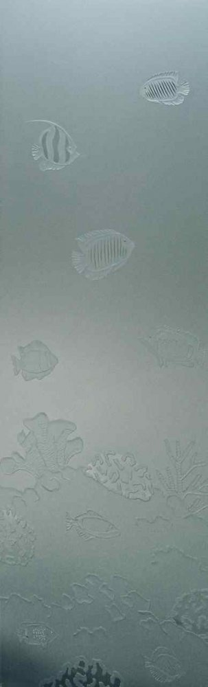 Glss Door Inserts Aquarium 3D Private Sans Soucie