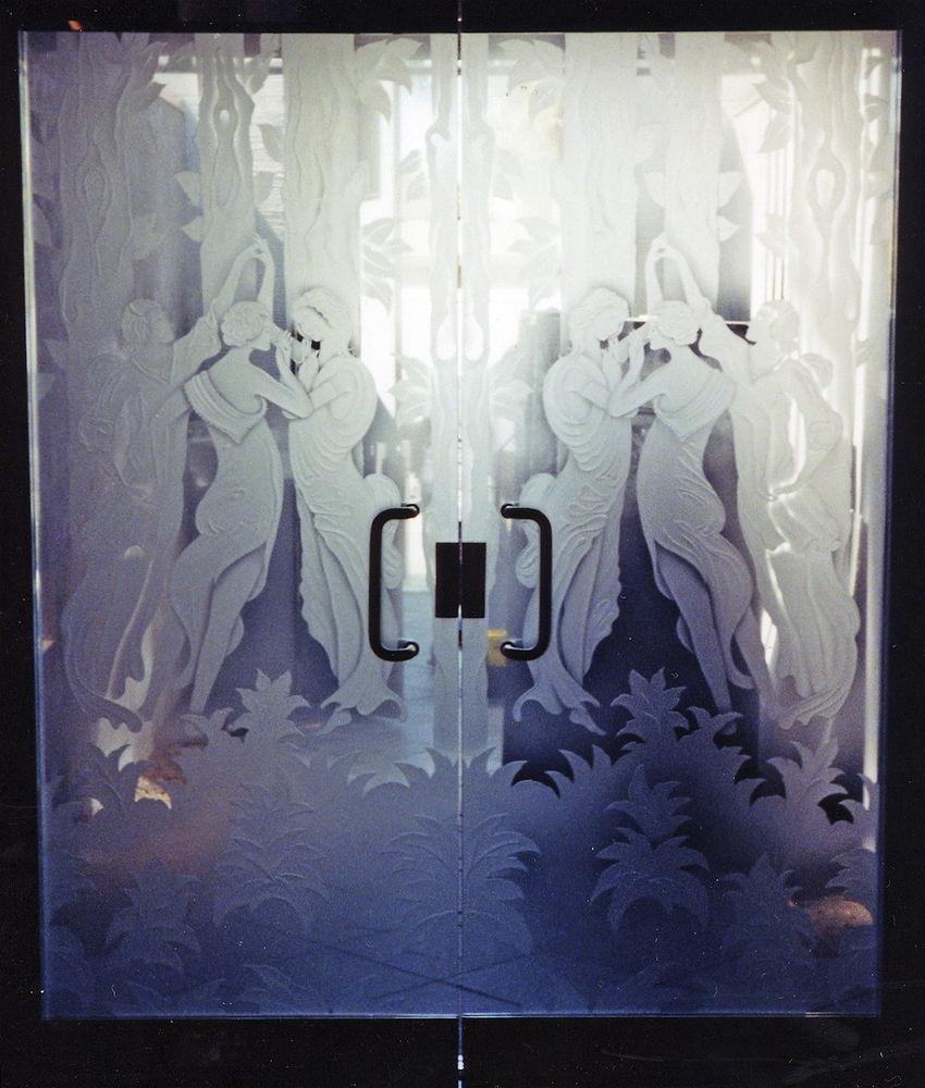 Grecian Ladies Frameless Glass Doors Sans Soucie