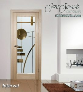 glass doors glass etching geometric shapes linear angles modern style sans soucie interval 1