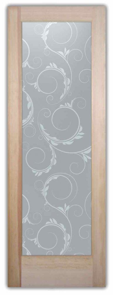 Interior Glass Doors frosted glass Victorian design ornate flourishes half circles eastleigh sans soucie