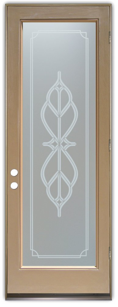 Interior Glass Doors etching glass victorian style ornate iron bars faux bevels ll sans soucie