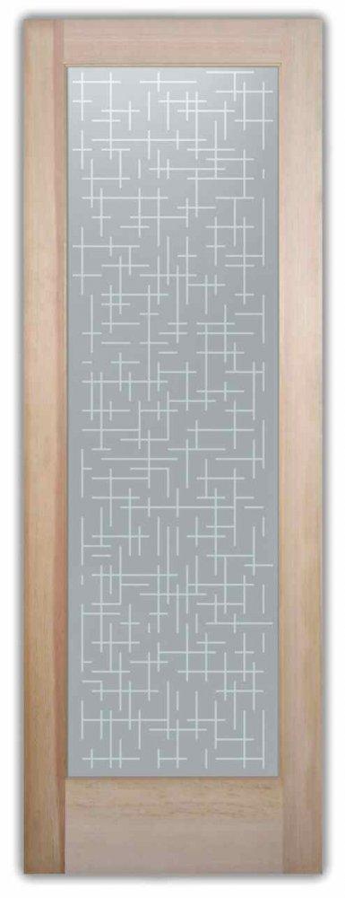 Interior Glass Doors sandblasted glass contemporary design squares cubes grid fine sans soucie