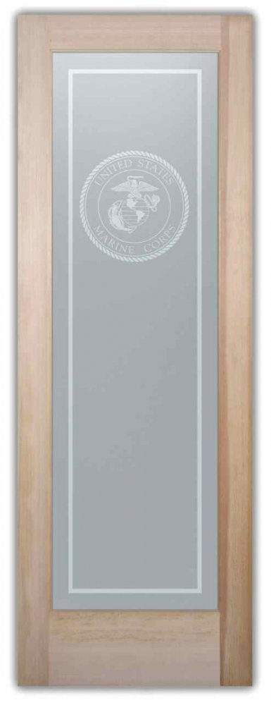 Interior Doors with Etched Glass seal by Sans Soucie