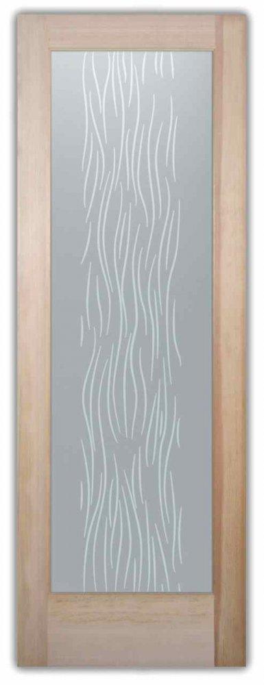 Interior Glass Doors etching glass art deco design curvy lines patterns motion sans soucie