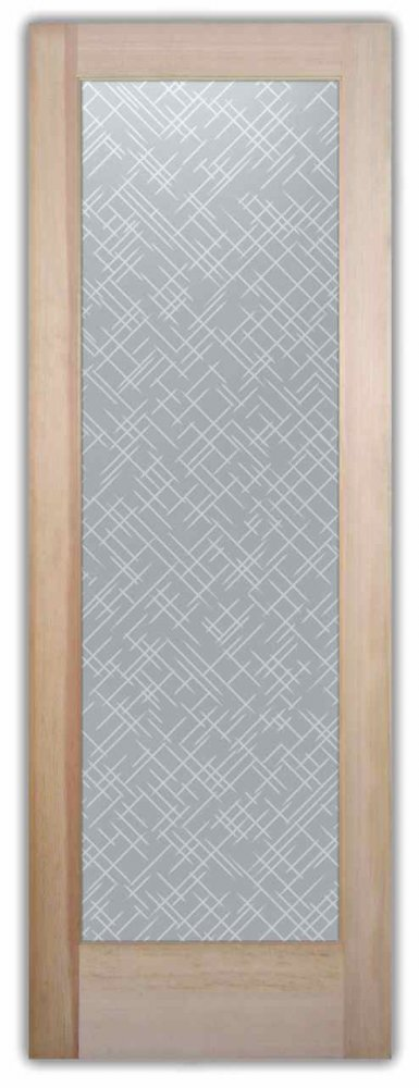 Interior Glass Doors modern design slash marks geometric patterns picks sans soucie