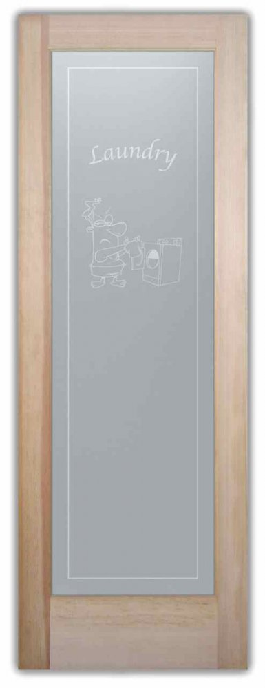 Laundry Room Doors Solid Frosted Glass by Sans Soucie