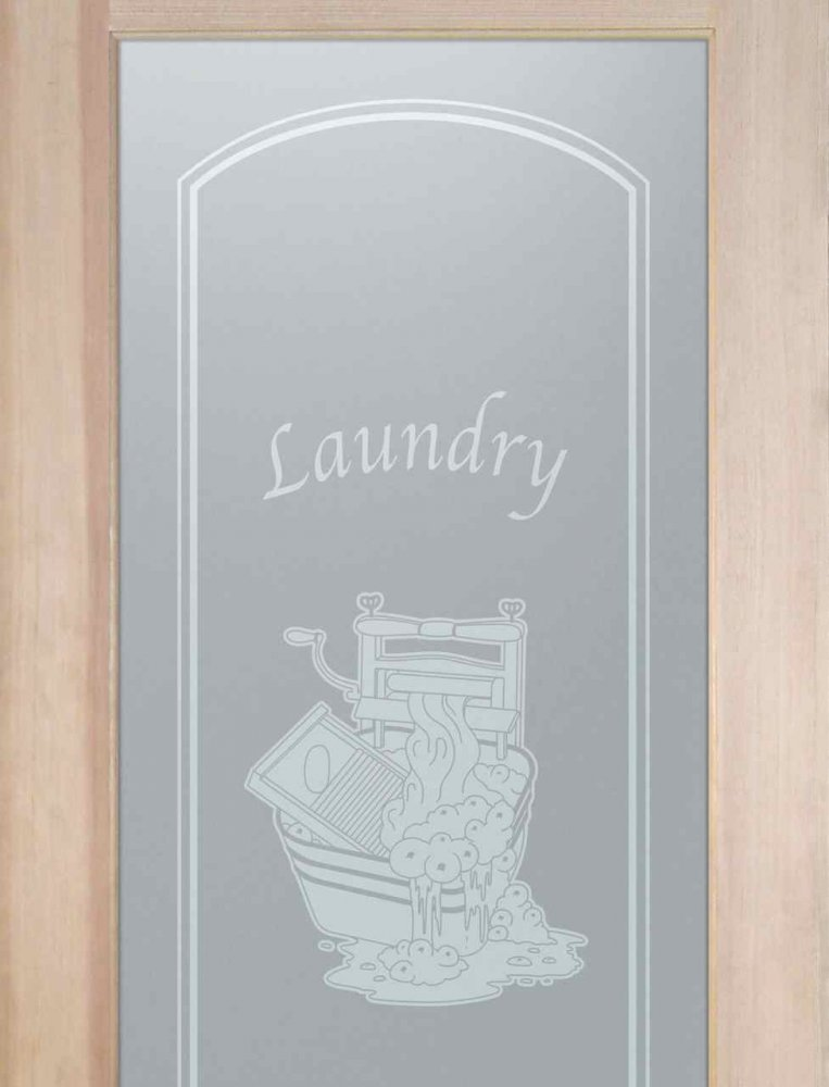 Laundry Room Door with Etched Glass wringer by Sans Soucie