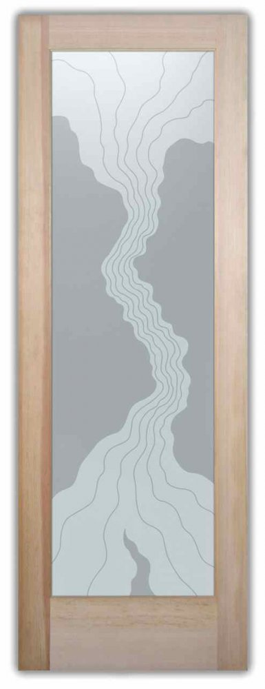 Interior Glass Doors etched glass designs eclectic style wavy lines triptic waves sans soucie