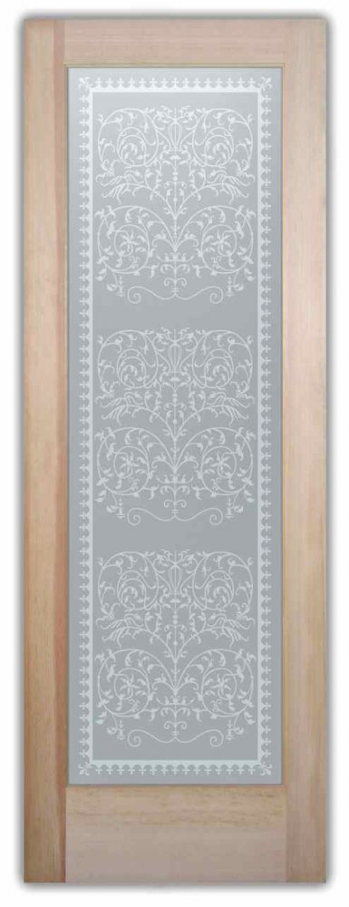 Interior Glass Doors glass etching Victorian decor lacy ornate intricate victorian lace sans soucie