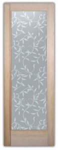 Vines Lg Etched Glass Front Doors Tropical Design