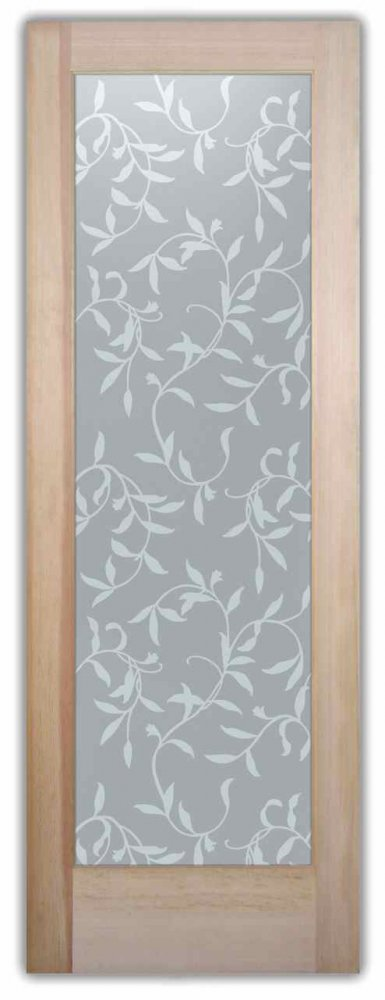 Interior Glass Doors frosted glass English country decor leaves plant life vines sans soucie