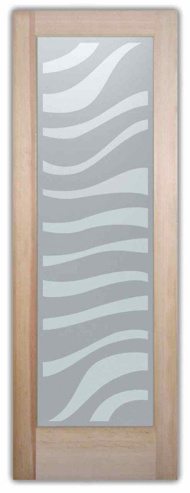 zebra african decor interior etched glass doors. Black Bedroom Furniture Sets. Home Design Ideas