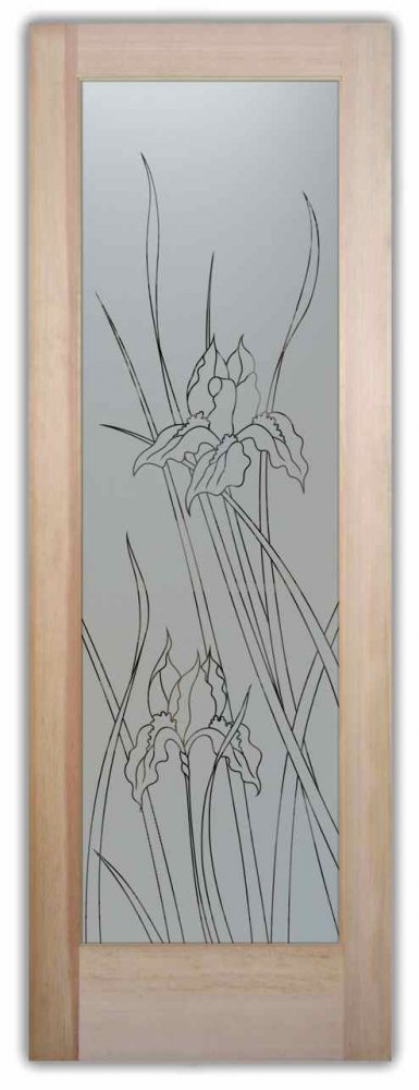 Decorative Floral Glass Shower Door Iris Pantry Door Decorative Glass By Sans Soucie