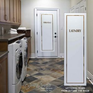 Laundry Room Doors with Etched Glass Classic by Sans Soucie