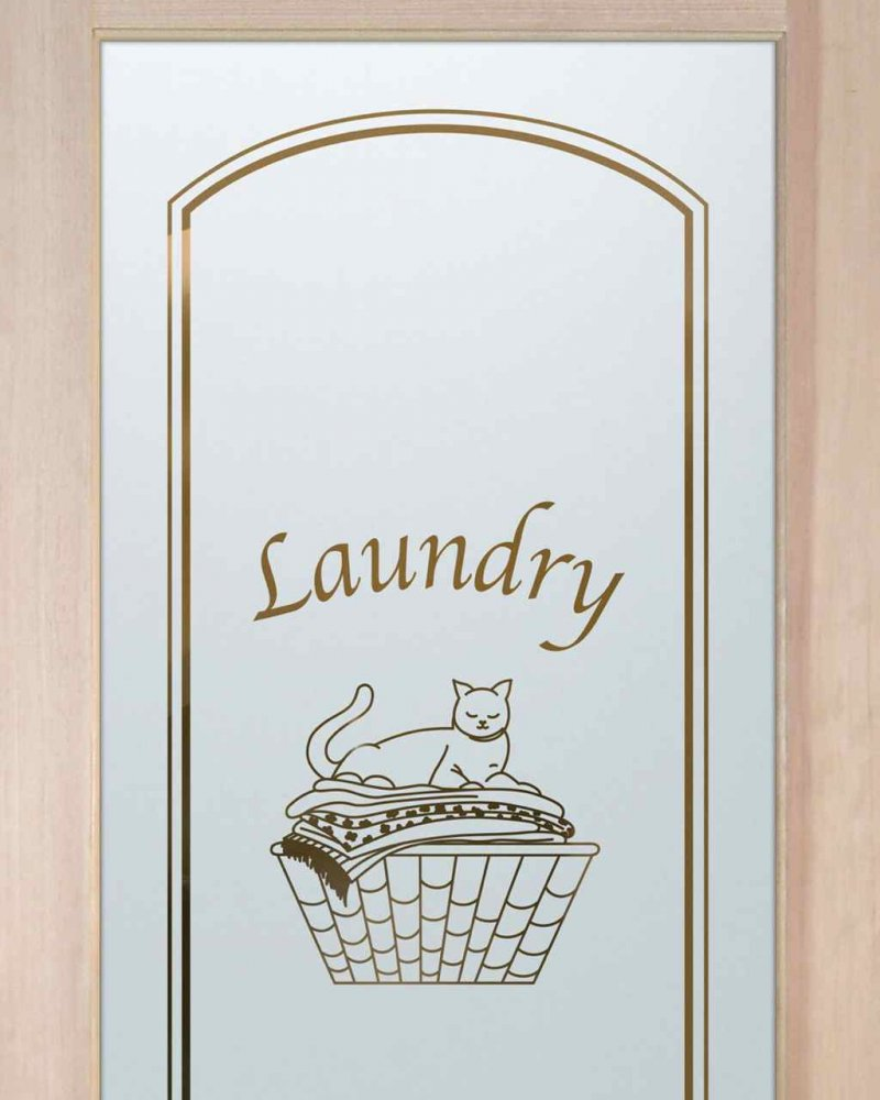 Laundry Room Doors with Frosted Glass Cat Nap by Sans Soucie