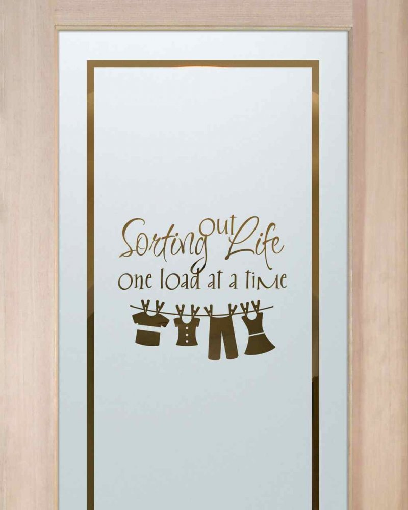 Laundry Room Doors with Etched Glass Clothesline by Sans Soucie